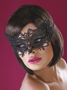 Model 13 maska na oczy - czarna - wdzięk tajemnicy