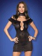 Diamond koszulka i stringi czarna - z ponętnym dekoltem