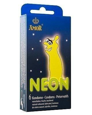 Neon - prezerwatywy świecące w ciemności (6 szt.) - AM-50111